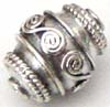 11mm x 9mm Sterling Silver Barrel Bead B132