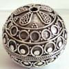 30mm Huge Sterling Silver  Ornate Bead B187