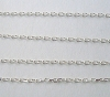 2mm x 1.2mm Sterling Silver diamond cut heavy cable Chain by Foot CH36
