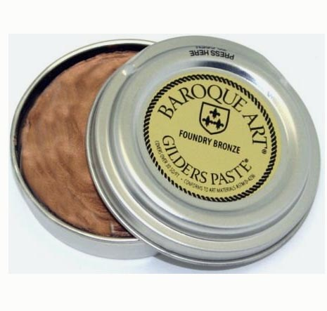 Foundry Bronze (brownish bronze metallic tone) Baroque Art Gilders Paste 1.5 oz  30 ml