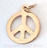 13.5 x 12 14k yellow gold Filled Peace charm pendant GD04