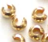 3mm Gold Filled Crimp Bead Cover 3mm (100pcs/pk)  GF03