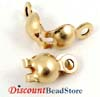 Clam Shell 14k gold filled bead tips knot covers with 2 rings (20pcs/pk) GF20