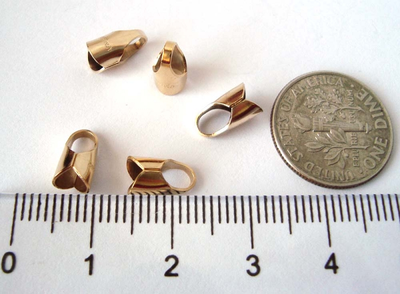 4mm 14k gold filled leather endcap (10pcs/pk)