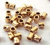 2mm x 2mmGold Filled twisted Crimp Beads Tubes (100pcs/pk) GS41
