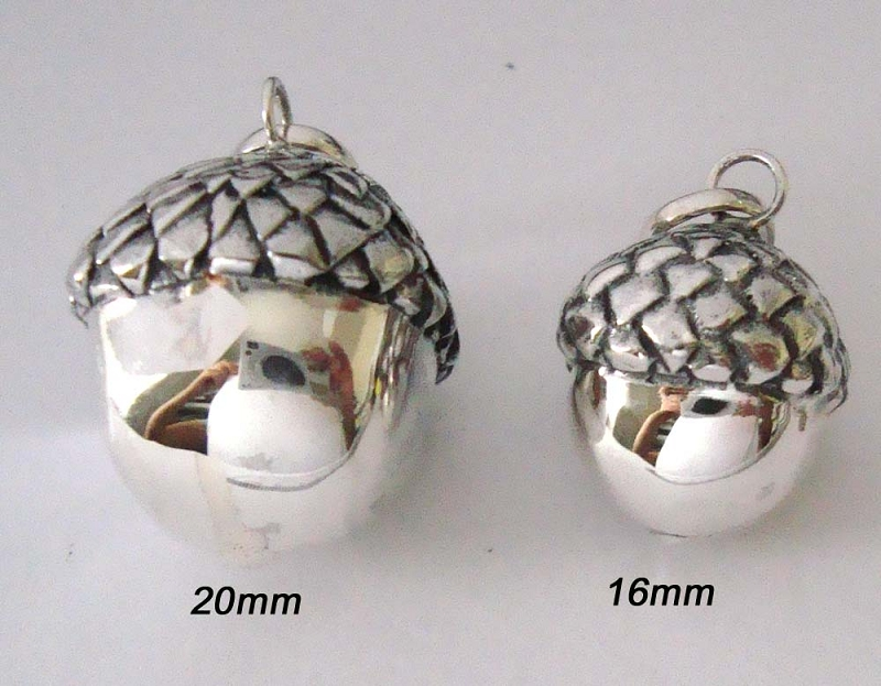 16mm Sterling Silver Harmony Ball Acorn Pregnancy
