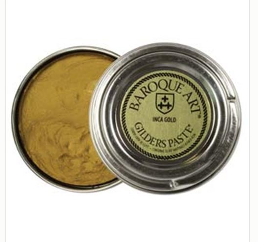 Inca Gold (slight brassy metallic tone) Baroque Art Gilders Paste 1.5 oz  30 ml