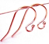 21 gauge Rose Gold filled ball end French Hook earring wire