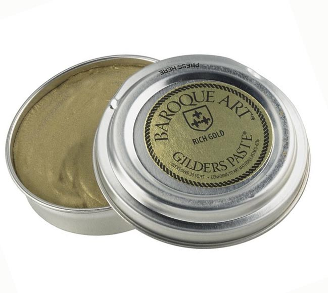 Rich Gold (deep rich gold metallic tone) Baroque Art Gilders Paste 1.5 oz  30 ml