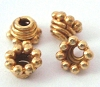 6mm x3.5mm gold plated silver bead cap (16pcs/pk) VC6