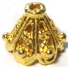 10mm x 9mm gold plated silver Bali Cap (4pcs/pk) VC19