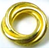 10mm gold plated silver Bali Bead   Spacers (4pcs/pk) VS04