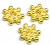 6mm Snowflake gold plated silver Spacer (30pcs/pk) VS17