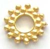 13mm X-large gold plated silver Bali