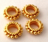 8mm x 3mm  gold plated silver 24K gold Plated bali Spacer (10pcs/pk) VS50