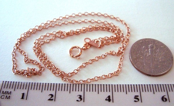cable necklace sterling anklet silver chain