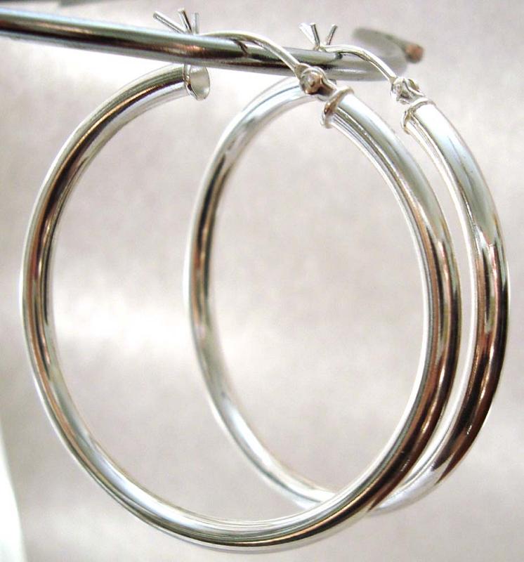 Cape Cod Earrings 40mm Sterling Silver Eurowire 3mm tube
